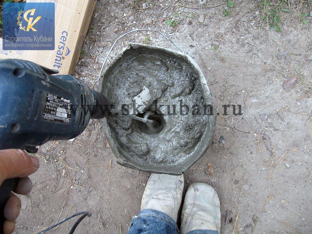 Дрель для приготовления строительных растворов сколько сохнет бетона