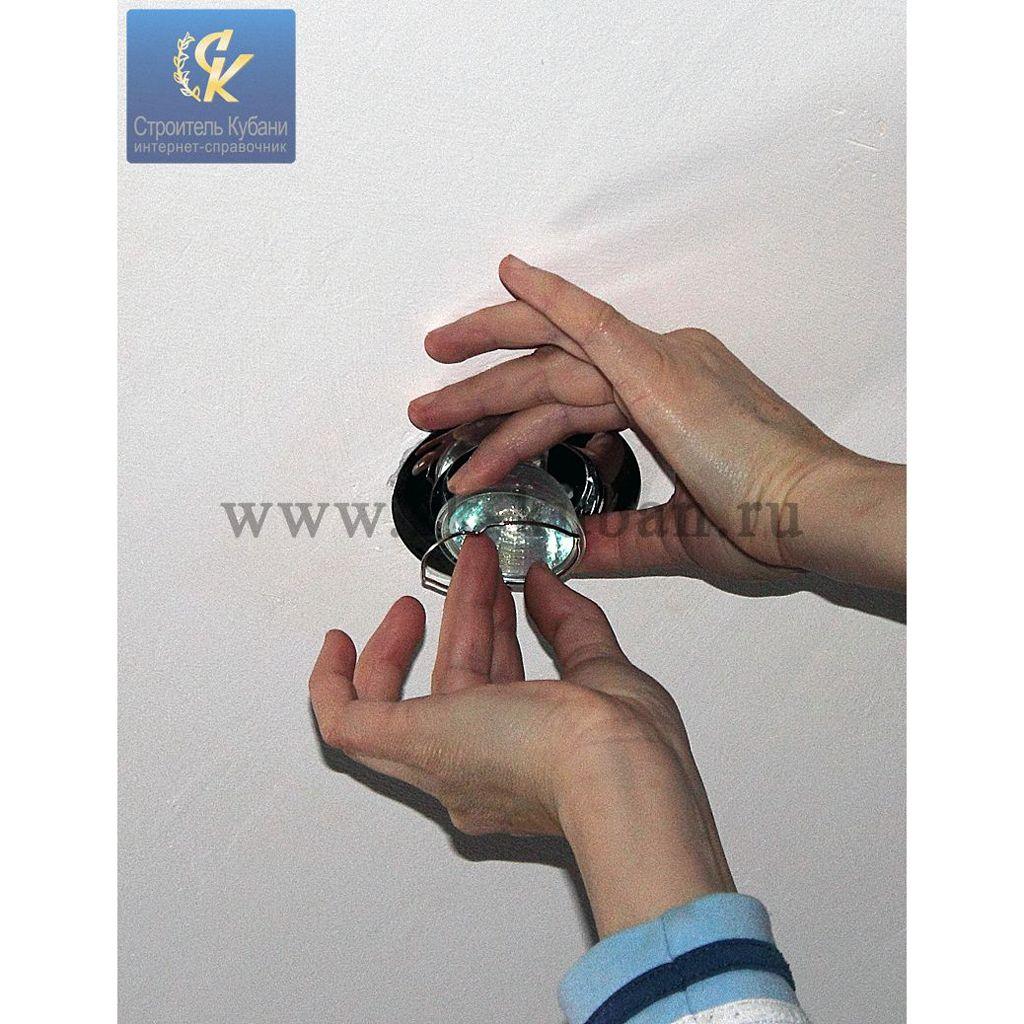 Установка точечных светильников своими руками: мастер 64
