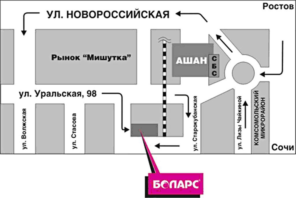 Уральская, 98, схема проезда