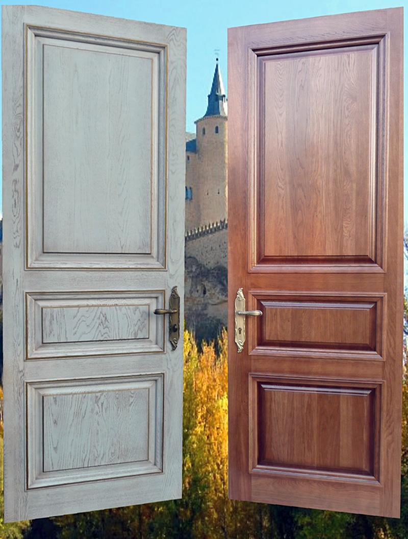 входные двери цвета состаренное дерево